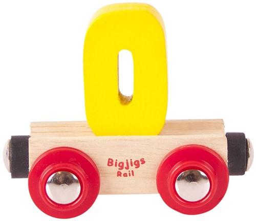 BigJigs Rail Name Number 0 , Cijferwagon 0