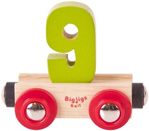 BigJigs Rail Name Number 9 / Cijferwagon 9