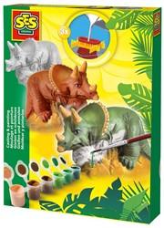 Ses  knutselspullen Figuren gieten Triceratops