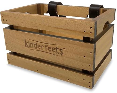 Kinderfeets houten fietskrat