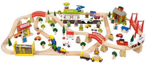 Bigjigs Transport Train Set