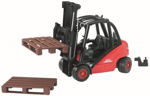 Bruder Linde  fork lift HD30 with tow-coupling and 2 pallets - 2511
