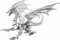 Metal Earth constructie speelgoed ICONX Silver Dragon