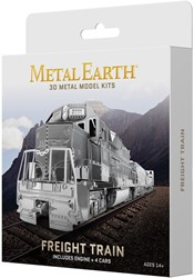 Metal Eart constuctie speelgoed Freight Train Gift-Box