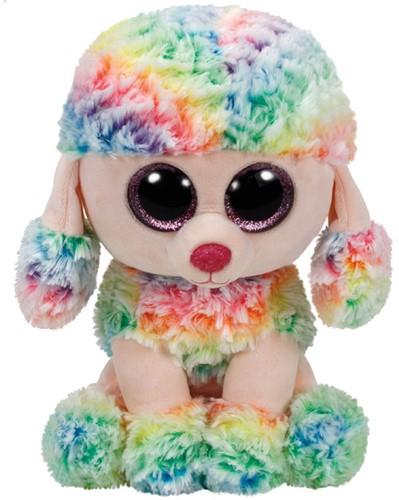 Ty Beanie Buddy Rainbow Poodle 24cm