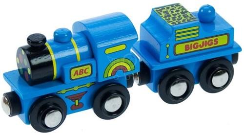 Bigjigs Blauwe ABC Locomotief