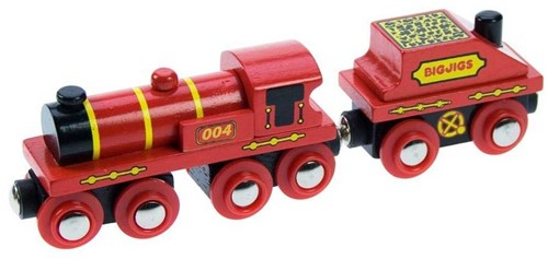 BigJigs houten trein Big Red Engine