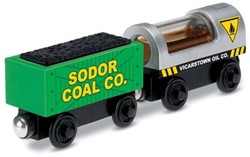 Thomas and Friends  houten trein Diesel & Steamie - Oil & Coal