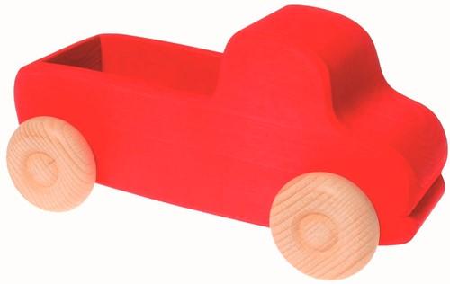Grimm's houten truck groot rood