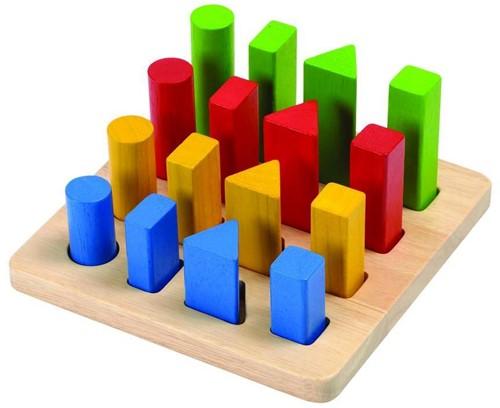 Plan Toys houten geometrische blokken