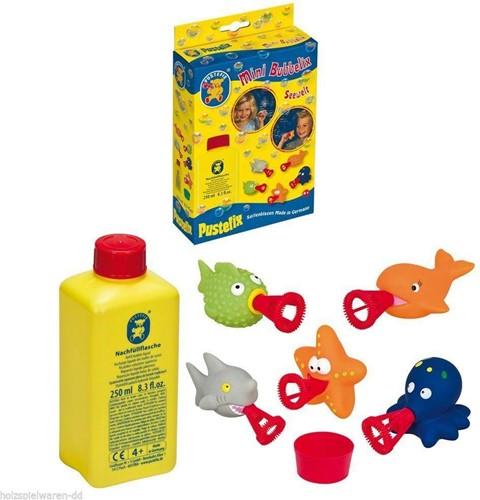 PustefixBellenblaas:MiniBUBBELIXZeedieren,bevat250mlPustefixvloeistof en5spuitdiertjes,4+