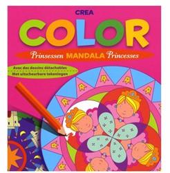 Kinderboeken  doeboek Crea Color Prinsessen Mandala