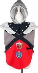 Souza  Edmund ridder tuniek, rood-grijs-zwart, 3-4 jaar/98-104 cm (1 stuk)