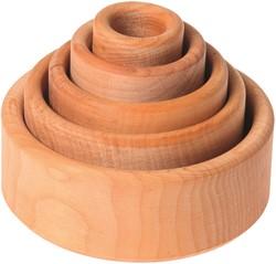 Grimm's set van blank houten bakjes 10340