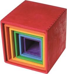 Grimm's gekleurde houten Stapelkisten 10370
