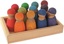 Grimm's 12 Rainbow Friends, Special Edition Cherrywood