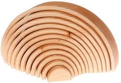 Grimm's 12-delige blank houten Regenboog