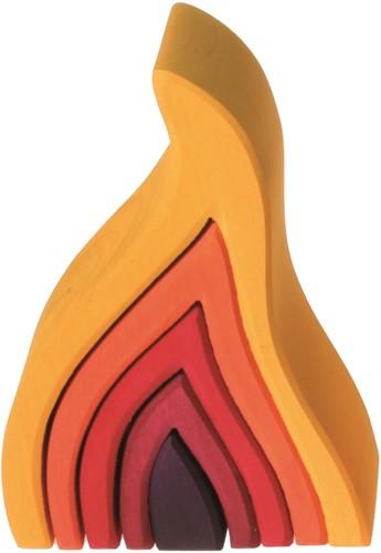 Grimm's houten blokken Vuur 10730