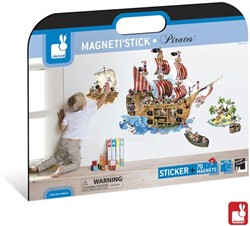 Janod  decoratie Muursticker piraten magnetisch