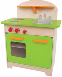 Hape houten keukentje Gourmet groen