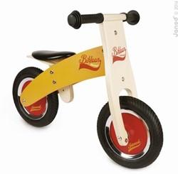 Janod houten loopfiets Bikloon klein oranje/rood
