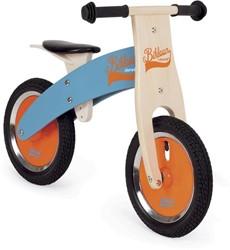 Janod  houten loopfiets Bikloon - blauw en oranje