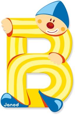 Janod Clown Letter -  B