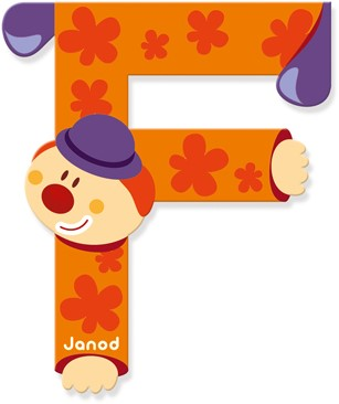 Janod Clown Letter -  F
