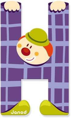 Janod Clown Letter -  H