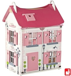 Janod  houten poppenhuis Mademoiselle met 17 accessoires