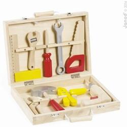 Janod Bricolo houten constructie speelgoed Gereedschapskoffer