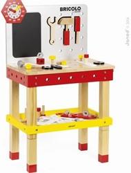 Janod Bricolo houten constructie speelgoed Werkbank XL