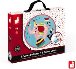 Janod Atelier - glitterkaarten circus