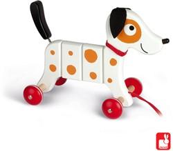 Janod Trekfiguur - Crazy Rocky witte hond