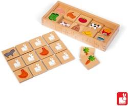 Janod Spel - geheugenspel - memory boerderij hout