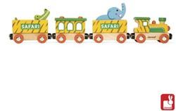 Janod  Story houten trein Safari