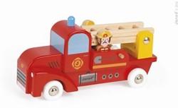 Janod Story houten speelstad voertuig Vrachtwagen Brandweer 2 man
