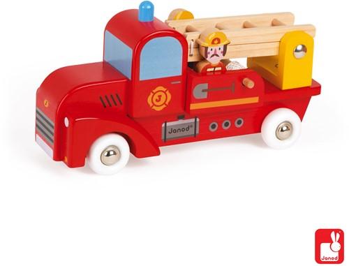 Janod Vrachtwagen - brandweer 2 brandweermannen-2