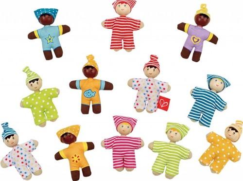 Hape houten poppenhuis poppen Happy Babies