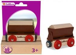 Eichhorn  houten treinwagon Aanhanger 2 delig
