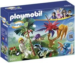 Playmobil Super 4 Verloren eiland met alien en raptor 6687