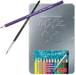 Bruynzeel  teken en verfspullen Aquarel potloden 12x in blik
