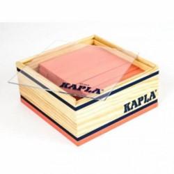 Kapla  houten bouwplankjes 40 roze in kistje