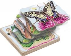 Beleduc  houten lagenpuzzel Vlinder