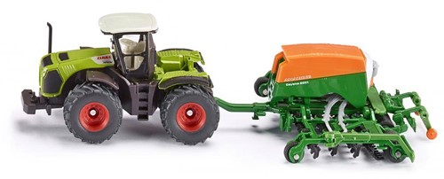 Siku 1:87 Claas Xerion tractor met Cayena zaaimachine