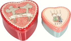 Maileg 2 Metal Hearts, Loving Couple, Set
