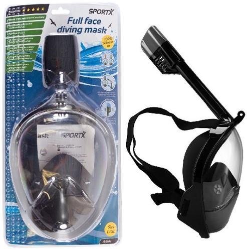 SportX Duikset Full Face Black L/XL ****