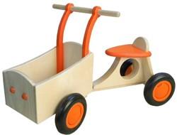 Van Dijk Toys houten Bakfiets oranje