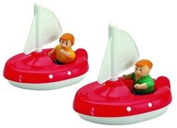 Aquaplay badspeelgoed 2 zeilboten+2 poppetjes