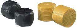 Bruder  - Round hay bales 4 pcs.sorted black. okery f.bale wrapper